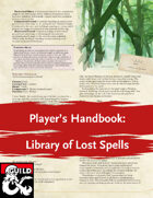 Player's Handbook: Library of Lost Spells