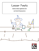 Lesser Feats for 1st Level Characters
