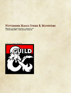 30 Magic Items & Monsters (2019 Challenge)