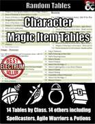 Character Magic Item Tables - Random Tables