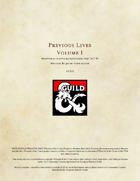 Previous Lives Volume 1 - Additional Character Backgrounds