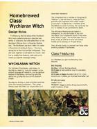 Homebrewed Class: Wychlaran Witch