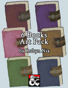 6 Books Stock Art Pack