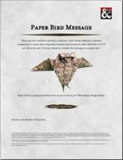 Paper Bird Message