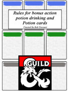 Potion card and bonus action potion rules