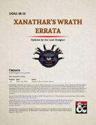 DDAL08-12 Xanathar's Wrath Errata