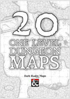 20 Black and White One Level Dungeon Maps
