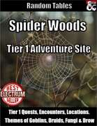 Spider Woods - Tier 1 Adventure Site using Random Tables