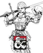Female Paladin With Greatsword stock art