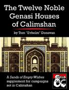 The Twelve Noble Genasi Houses of Calimshan (5e)