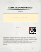 Alternative/Variant Races