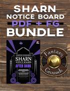 Sharn Notice Boards: After Dark PDF + FG [BUNDLE]