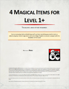 4 Magical Items for level 1+