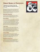 The Great Dragonmark of Handling - Sorcerous Origin