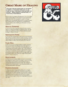 The Great Dragonmark of Healing - Sorcerous Origin