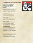 The Great Dragonmark of Hospitality - Sorcerous Origin