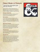 The Great Dragonmark of Passage - Sorcerous Origin