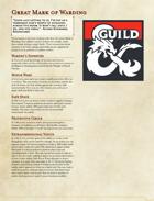 The Great Dragonmark of Warding - Sorcerous Origin