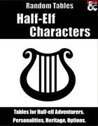 Half-Elf Characters - Random Tables