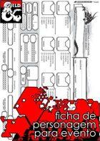 Ficha de Personagem para Eventos - D&D 5e