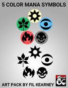 5 Color Mana Symbols Art Pack