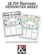 5E Character Sheet - Art Nouveau