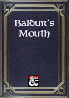 Baldur's Mouth Newspaper Template