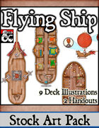 Flying Ship - Stock Art Pack