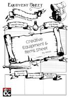 Creative Equipment Sheet - A4