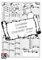 Complete Creative Character Sheet Series - A4
