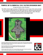 Temple of Elemental Evil Outside and Temple Map
