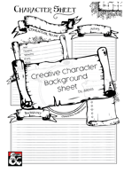 Character Background Sheet