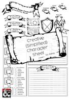 Character Sheet Simplified