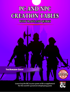 PC and NPC Creation Tables