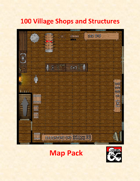 100 Village Shops and Structures Map Pack