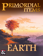 Primordial Items: Earth (5e)