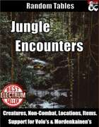 Jungle Encounters - Random Encounter Tables