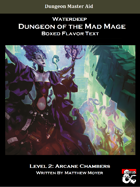 DotMM: Boxed Flavor Text and Combat Tracker - Level 2 (Waterdeep: Dungeon of the Mad Mage)