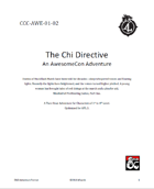 CCC-AWE-01-02 The Chi Directive