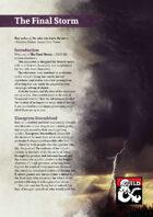 The Final Storm • 4th tier Encounter (5e)