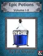 Epic Potions Vol I-X [BUNDLE]
