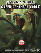 Greek Pantheon Codex for D&D5e