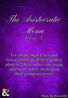 The Aristocratic Menu - Volume 4