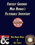 Fantasy Grounds Mad Nomad's Filterable Inventory