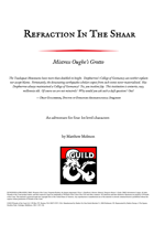Refraction In The Shaar: Mistress Oughe's Grotto