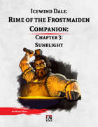 Rime of the Frostmaiden Companion 3: Sunblight
