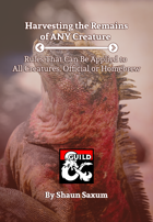Harvesting Rules for Any Creature