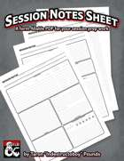 Session Notes Sheet (Form-Fillable)