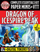 Essentials Kit Paper Miniatures & VTT: Dragon of Icespire Peak