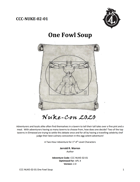 "CCC-NUKE-02-01 ""One Fowl Soup"""